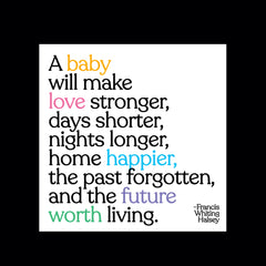 """a baby will make"" magnet"