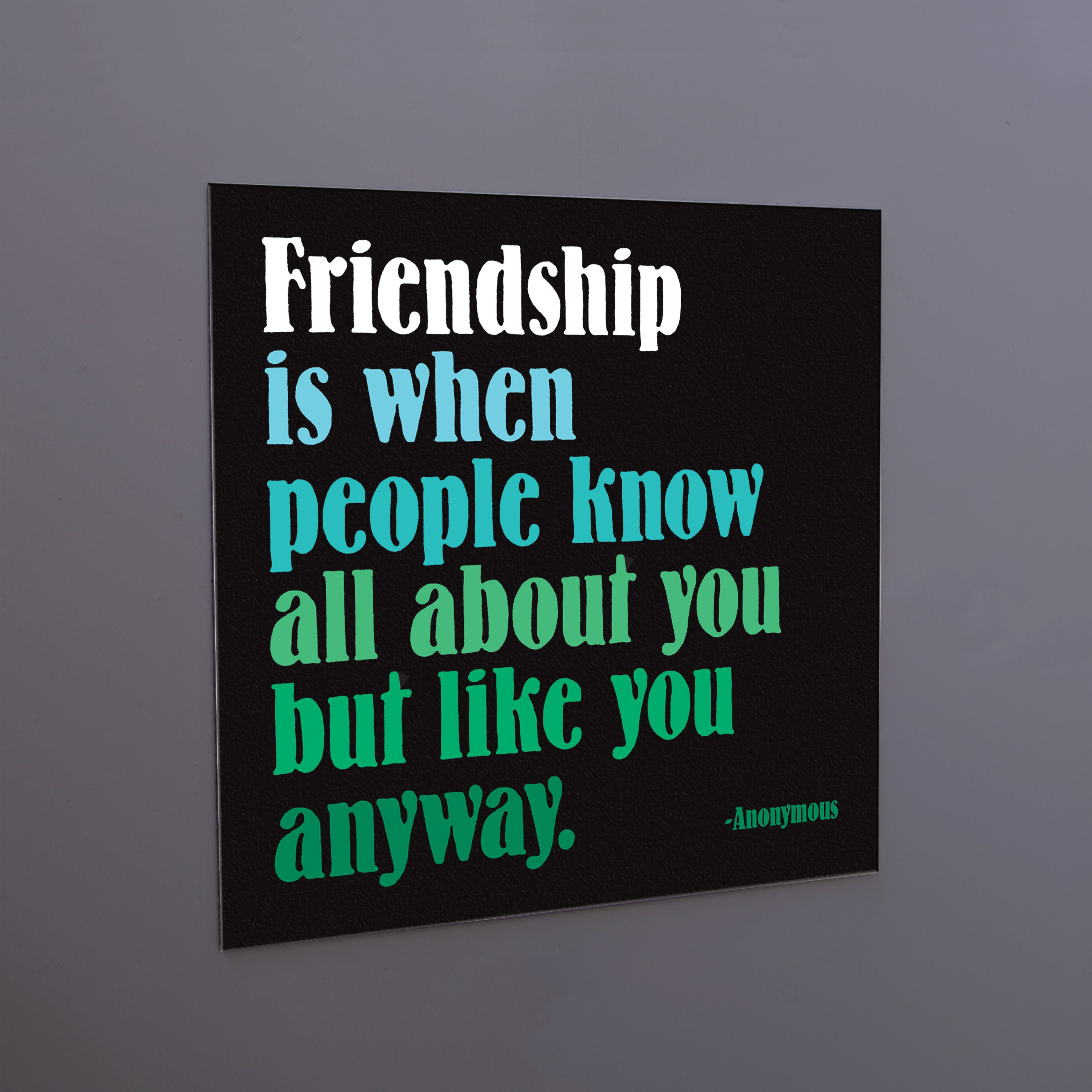"""friendship is when"" magnet"