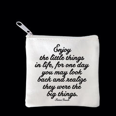 """enjoy the little things"" mini pouch"