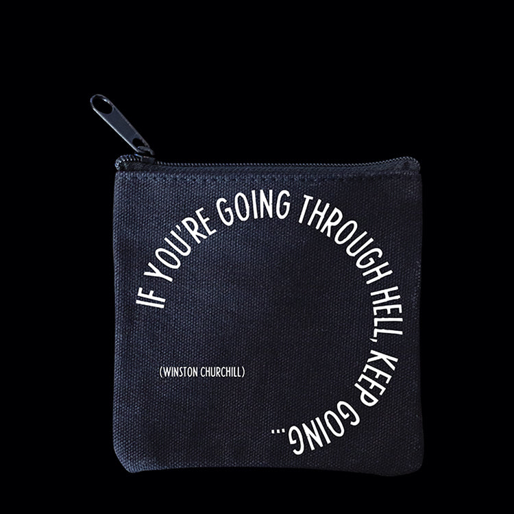 """going through hell"" mini pouch"