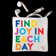 """find joy"" mini pouch"