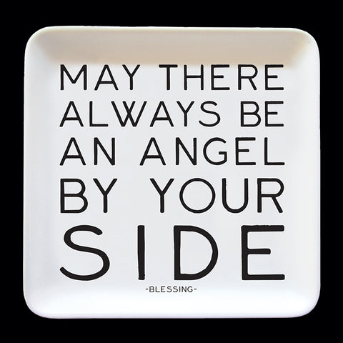 """angel by your side"" trinket dish"