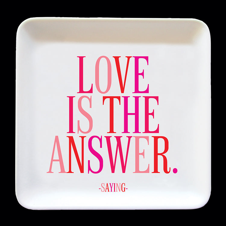 """love is the answer"" trinket dish"