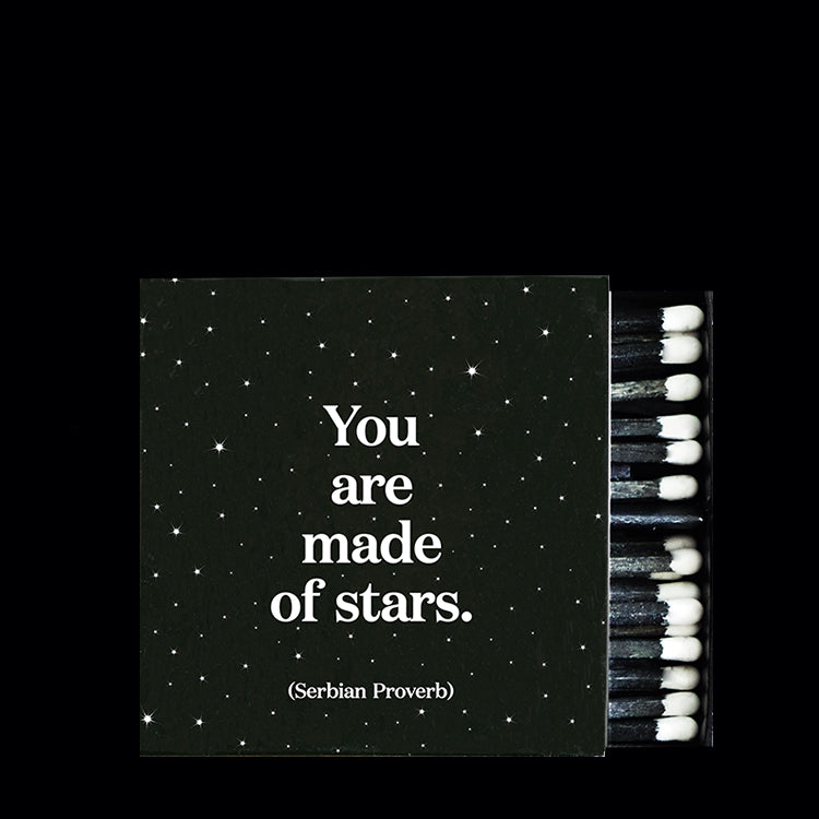 """made of stars"" matchbox"