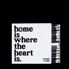 """home is where the heart is"" matchbox"