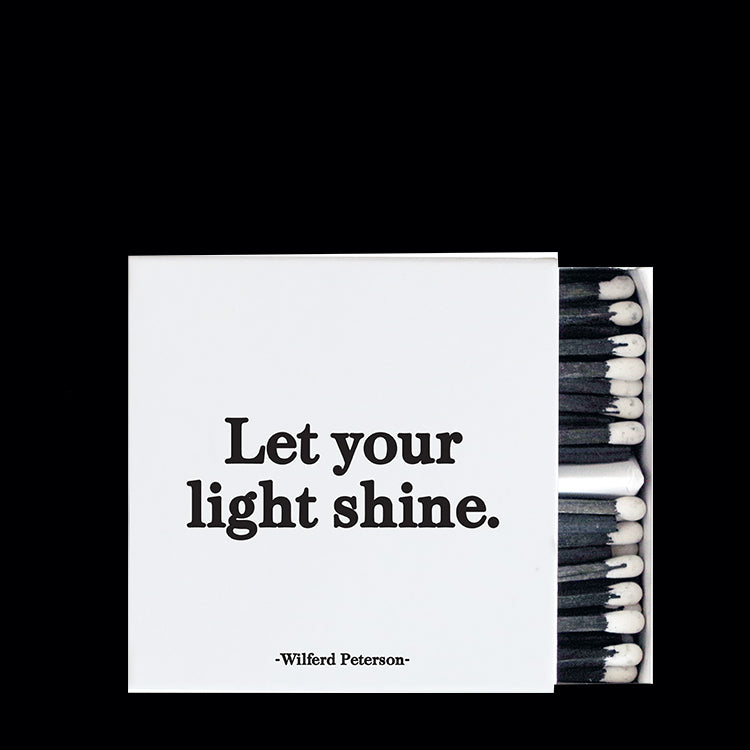 """let your light shine"" matchbox"