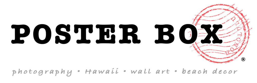 Poster Box Hawaii Photography, Wall Art, Beach Decor