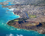 Diamond Head, Waikiki, Honolulu Aerial
