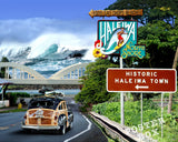 Historic Haleiwa Photomontage