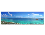 Panoramic, Photography, Poster Print, Lanikai, Kailua, Mokulua Islands, Oahu, Hawaii, Aerial View, Pillbox Hike, Photo by Tom Yim