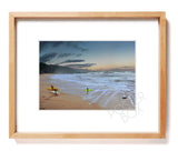 "Waimea Bay ""Almost Eddie"" Matted Photo Print"
