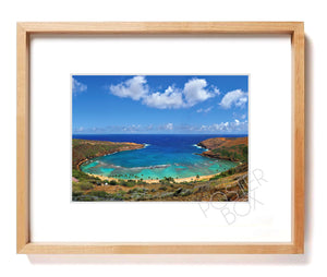 Hanauma Bay Matted Photo Print