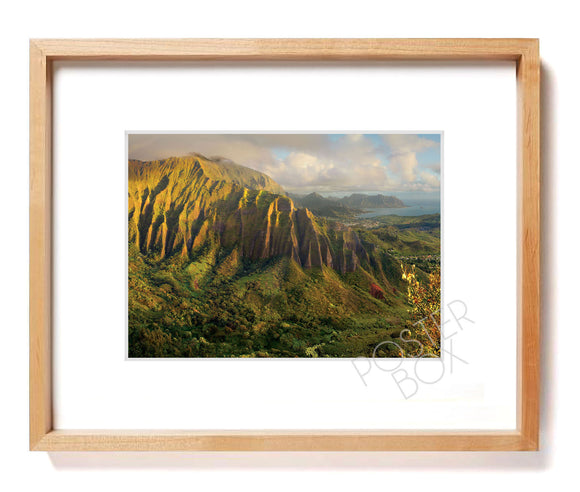 Koolau Mountain from Stairway to Heaven Matted Photo Print