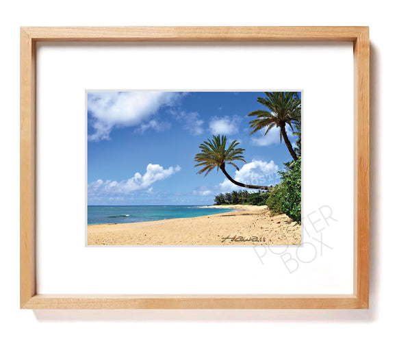Sunset Beach, North Shore Oahu Matted Photo Print