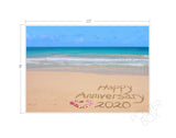"""Happy Anniversary"" Sand Writing Matted Photo Print"