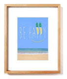 "Smile ""Be Happy""  Matted Art Print"