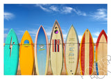 Boards of Paradise Matted Photo Art Print