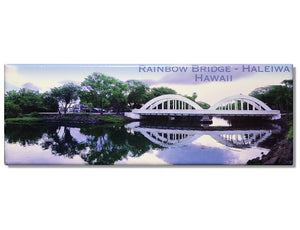Rainbow Bridge Haleiwa Panoramic Magnet