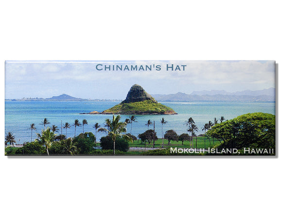 Chinaman's Hat from Kualoa  Panoramic Magnet