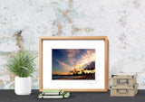 Ko Olina Sunset with Dancing Clouds Matted Photo Print