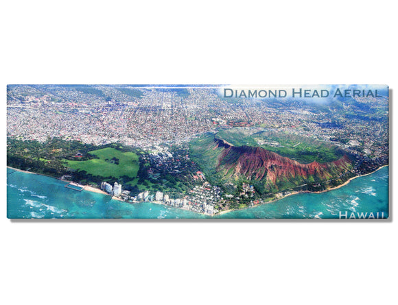 Diamond Head Aerial Panoramic Magnet