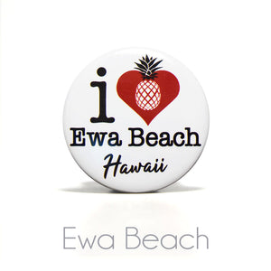 "2.25""I Heart Ewa Beach Hawaii Round Magnet"