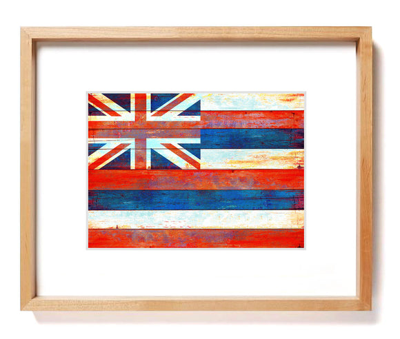 Hawaiian Flag Matted Art Print