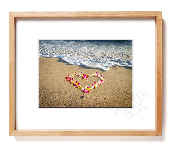 Heart Lei Matted Photo Print
