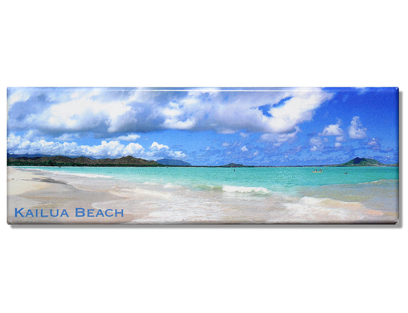 Kailua Beach Panoramic Magnet