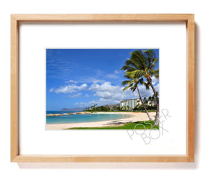 Ko Olina Resort Matted Photo Print