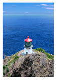 Makapuu Lighthouse Vertical Matted Photo Print