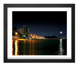 SALE**Moonrise over Waikiki Skyline 24x36
