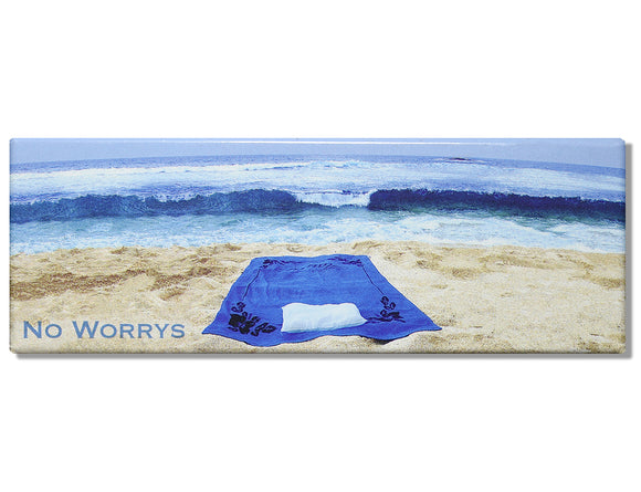 No Worries Panoramic Magnet