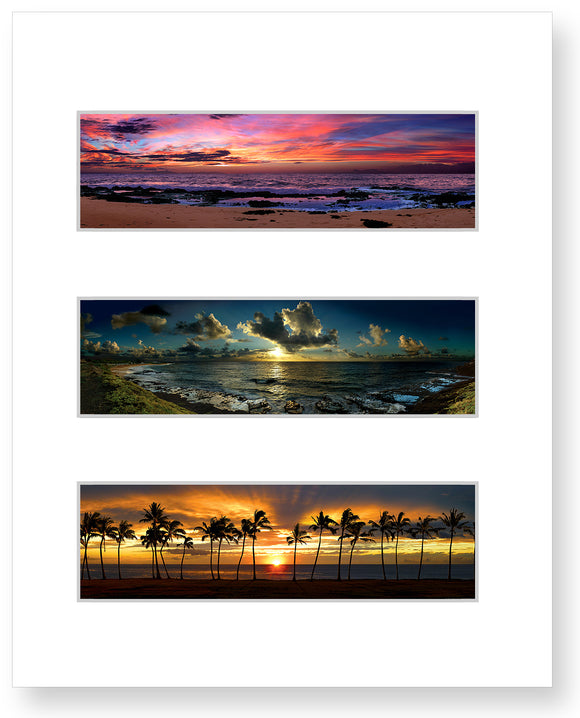 Sunrise on Oahu, Sunrise by Sandy Beach, Sunset at Maili Beach