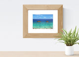 Lanikai Beach Mokulua Islands Matted Photo Print