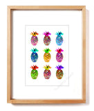 Pineapple Bling Matted Art Print