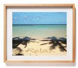 Relax Sand Writing Waimanalo Bay