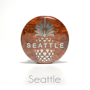 Seattle Pineapple Round Magnet