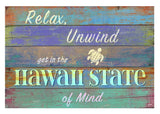 """Hawaii State of Mind"" Matted Art Print"