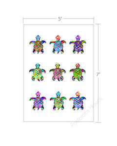Honu Bling Matted Art Print