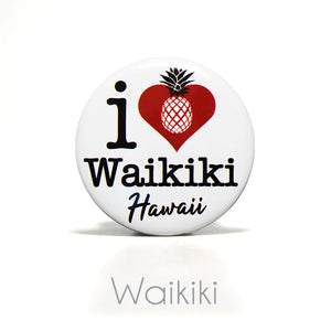 "2.25"" I Heart Waikiki, Hawaii Magnet"