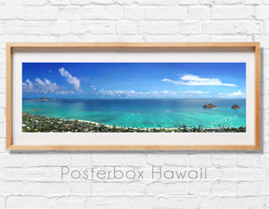 Lanikai Beach with Mokulua Islands Panoramic