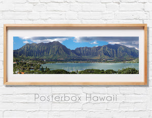 Kaneohe Bay with Koolau Mountains Panoramic