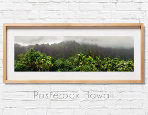 Koolau Mountains with Waterfalls Panoramic