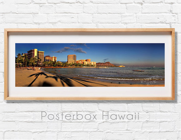 Waikiki Beach at Sunset  Panoramic