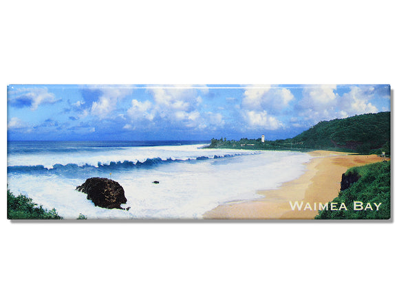 Waimea Bay Winter Panoramic Magnet