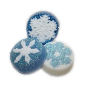 Shimmery Snowflake Melt & Pour Soaps