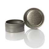 1/2 oz Flat Screw Top Seamless Metal Tin