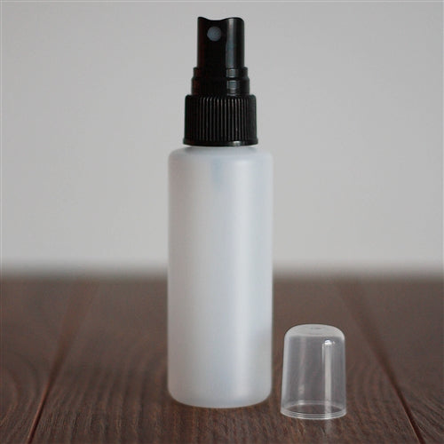 *60 ml Natural HDPE Cylinder with Mister - Black