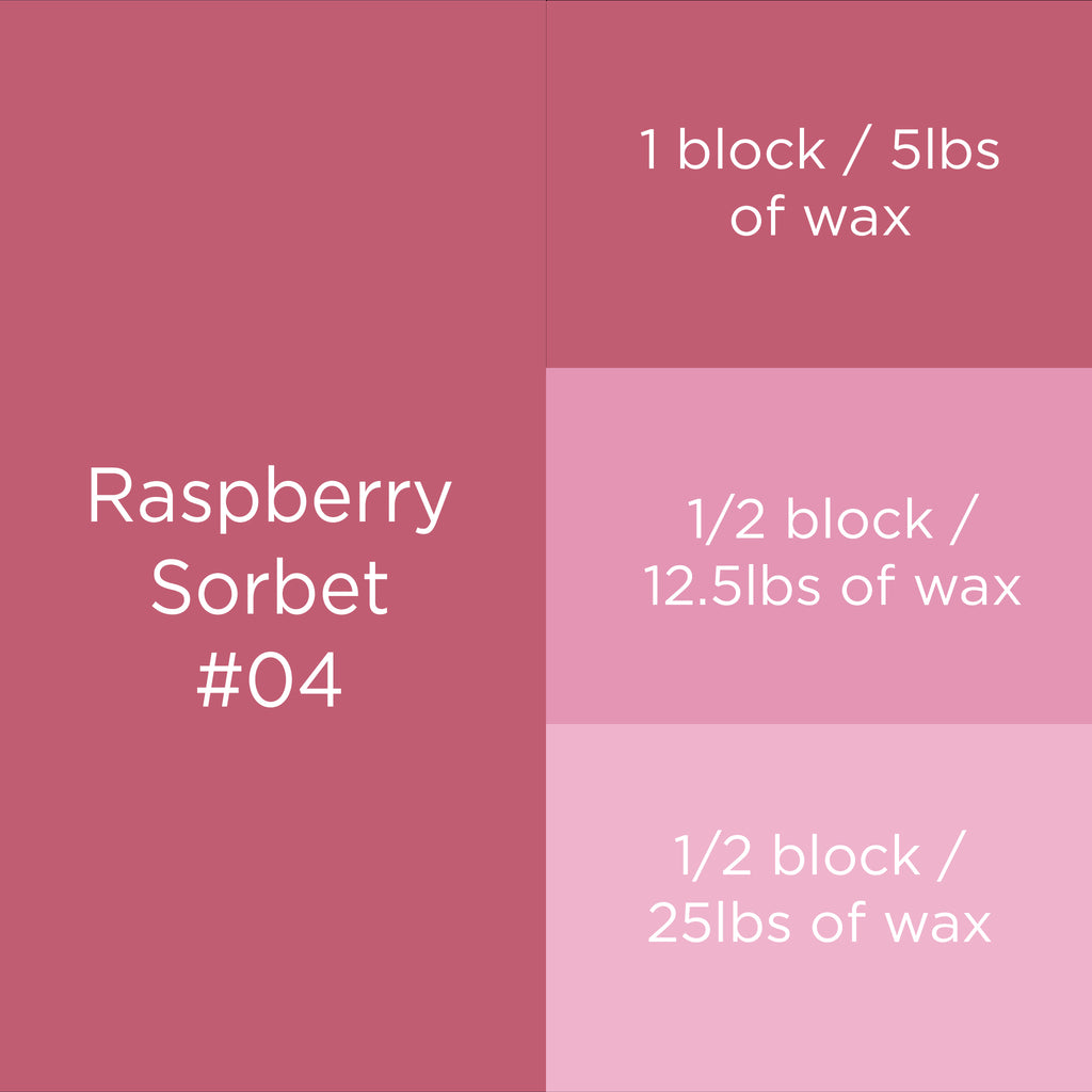 #04 Raspberry Sorbet Candle Dye Block
